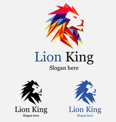 Valiant lion king logo vector