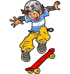 Skateboarder doing trick vector