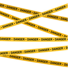Crime scene yellow tape police line do not cross vector