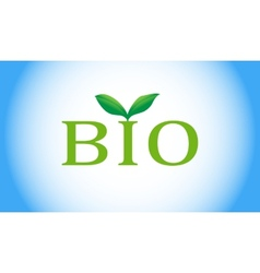 Bio word with green plant vector