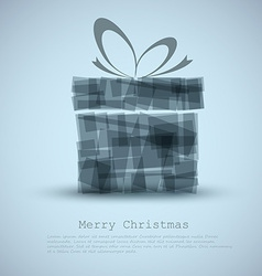 Simple christmas card with a gift vector