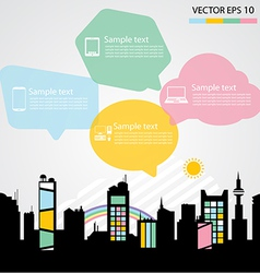 Network communication city vector