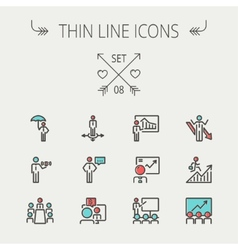 Business thin line icon vector