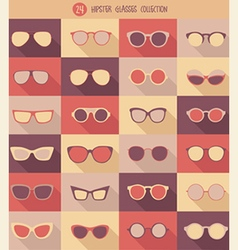 Glasses set hipster glasses vector