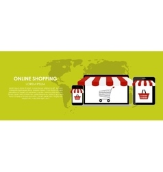 Online shopping  flat vector