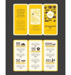 Modern restaurant menu design pamphlet vector
