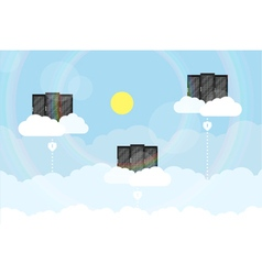 Clouds server vector