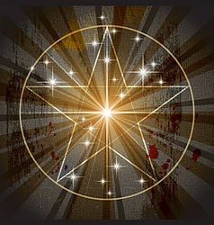 Ancient mystic pentagram vector