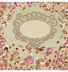 Vintage flower template floral background EPS 8 vector image