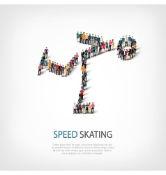 People sports speed skating vector