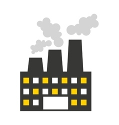 Plant factory building icon vector