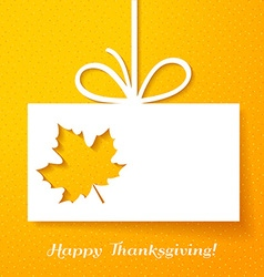 Applique card or background with leaf vector