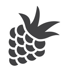 blackberry solid icon fruit and diet vector image