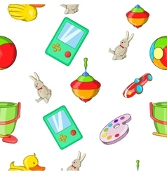 Child play pattern cartoon style vector