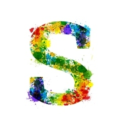 Color Paint Splashes Gradient Font vector image vector image