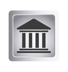 emblem shape bank icon vector image