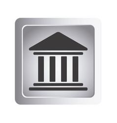 Emblem shape bank icon vector