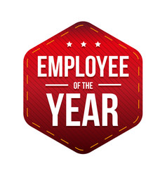 Employee of the year badge vector