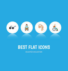 Flat icon handicapped set of handicapped man vector