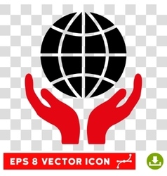 Global Hands Eps Icon vector image vector image