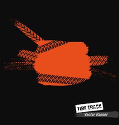 Grunge tire banner vector