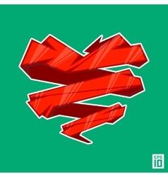 Heart angle vector image vector image