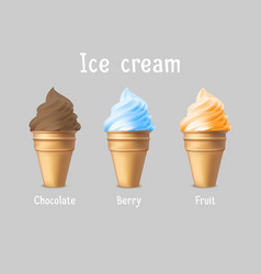 ice cream products ad 3d ice vector image