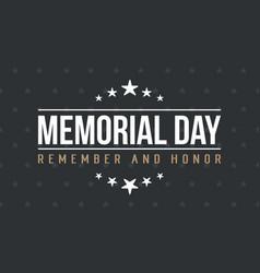 Memorial day background art vector