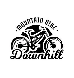 monochrome logo mountain bike downhill freeride vector image vector image
