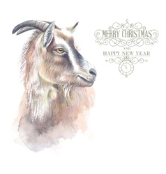 New year goat vector image vector image