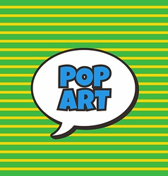 pop art vector image