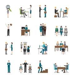 Recruitment HR people Icons Set vector image