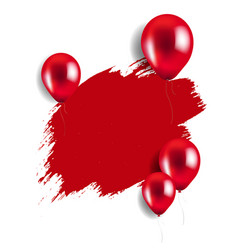 red blot with balloons vector image vector image