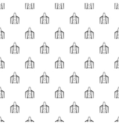Rocket for space flight pattern simple style vector
