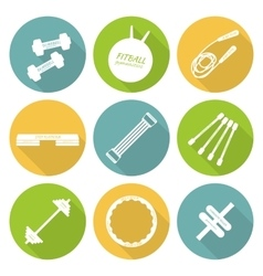 Set of flat icons of tools and accessories for vector