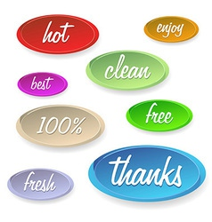 Set of stickers or buttons - customer satisfaction vector