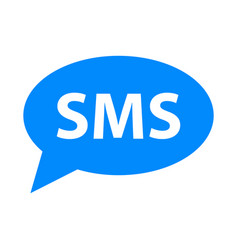 sms icon simple vector image