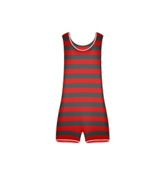 Striped retro swimsuit in red and black design vector image vector image