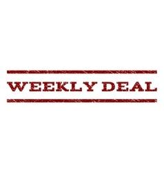 Weekly deal watermark stamp vector