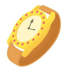 Wristwatch icon cartoon style vector