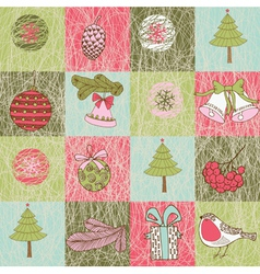 xmas patterns vector image