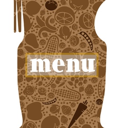 Fork and spoon menu vector