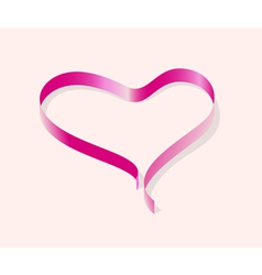 Ribbon line heart vector