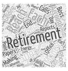The joy of retirement word cloud concept vector