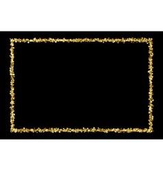 Gold frame vector