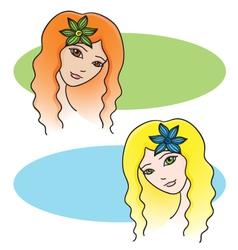Two women vector image