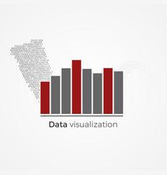 data visualization concept vector image