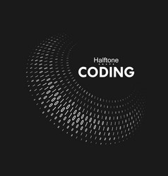 Curved binary code vector