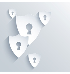 modern flat shield background Eps 10 vector image