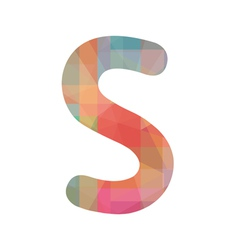 Colorful alphabet s vector